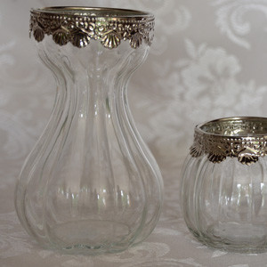 Vases-with-silver-trim