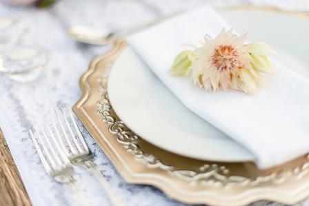 Vintage Protea and Crystal Tab
